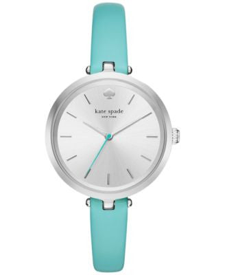 kate spade new york Women's Holland Island Turquoise Leather Strap Watch 34mm KSW1118