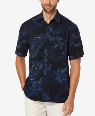 Cubavera Men's Large Paisley Short-Sleeve Shirt
