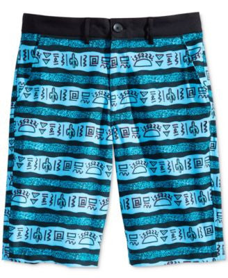 American Rag Men's Taco Truck Graphic-Print Stripe Hybrid Shorts, Only at Vogily
