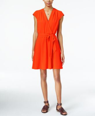 Maison Jules Cap-Sleeve Wrap Dress, Only at Vogily