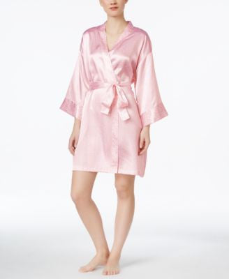 Morgan Taylor Leopard Print Satin Robe, Only at Vogily