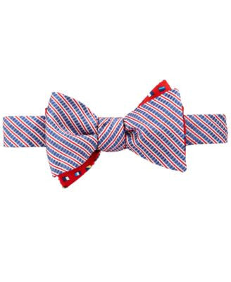 Brooks Brothers Men's Reversible Seersucker and Flags To-Tie Bow Tie