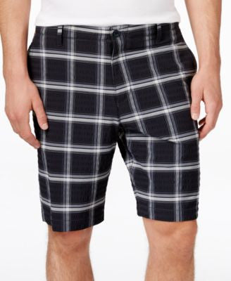 Tommy Bahama Men's Big & Tall On Par Plaid Flat-Front Shorts