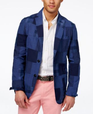 Tommy Hilfiger Men's Billy Patchwork Sport Coat