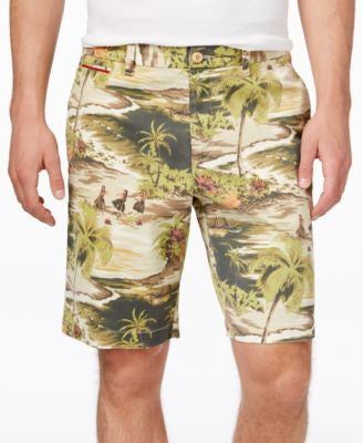 Tommy Bahama Men's Bedford Bay Tropical-Print Flat-Front Shorts