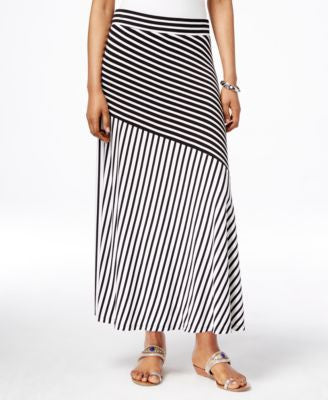INC International Concepts Striped Maxi Skirt, Only at Vogily