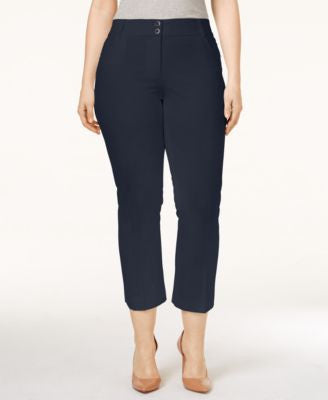 Alfani Plus Size Skinny-Leg Capri Pants, Only at Vogily