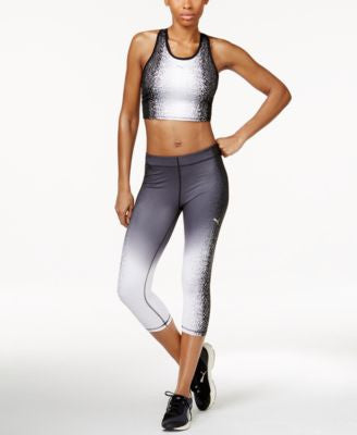 Puma Gradient Racerback Sports Bra & Capri Leggings