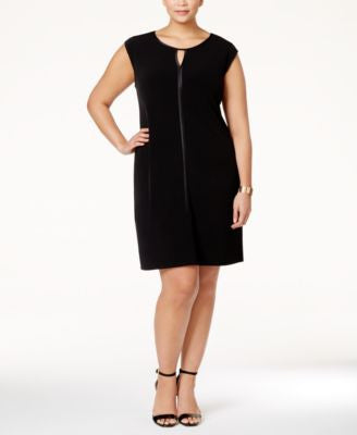 Alfani Plus Size Keyhole Sheath Dress, Only at Vogily