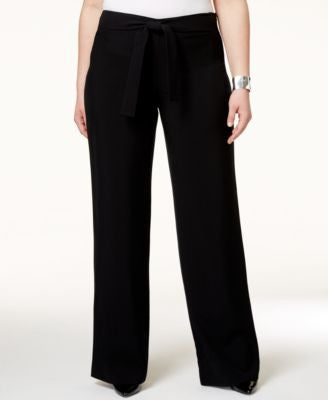 Alfani Plus Size Belted Wide-Leg Pants, Only at Vogily
