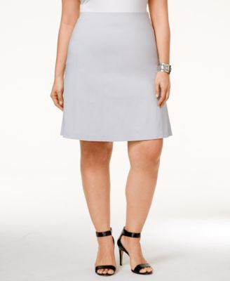Alfani Plus Size Pull-On A-Line Skirt, Only at Vogily