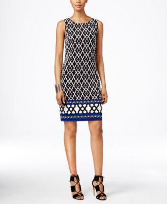 INC International Concepts Printed Shift Dress, Only at Vogily