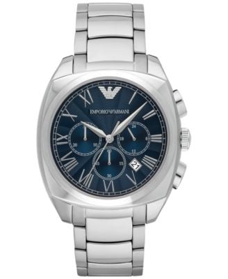 Emporio Armani Men's Chronograph Gamma Stainless Steel Bracelet Watch 44mm AR1938