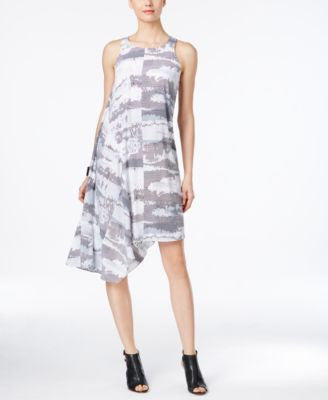 Alfani PRIMA Graphic-Print Asymmetrical Dress, Only at Vogily