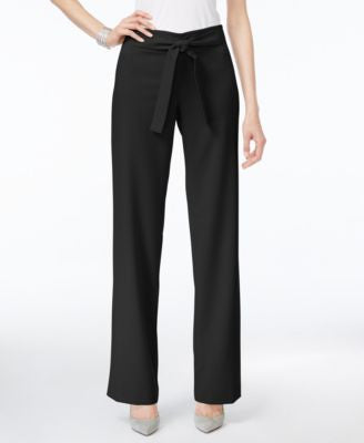 Alfani Petite Belted Wide-Leg Pants, Only at Vogily