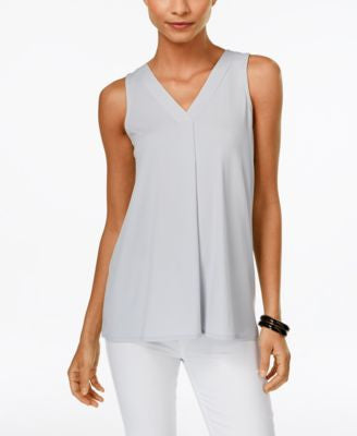 Alfani Petite V-Neck Swing Top, Only at Vogily