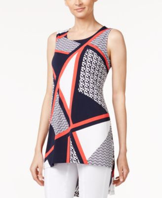 Alfani Printed High-Low Tunic, Only at Vogily