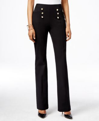 INC International Concepts High-Waist Flare-Leg Pants, Only at Vogily