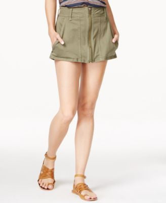 Free People Too Cool Military Mini Skirt