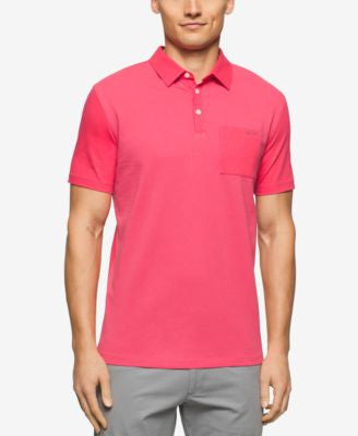 Calvin Klein Big & Tall Liquid-Cotton Refined Polo Shirt