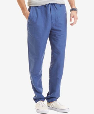 Nautica Men's Slim Fit Linen Cotton Jogger Pants