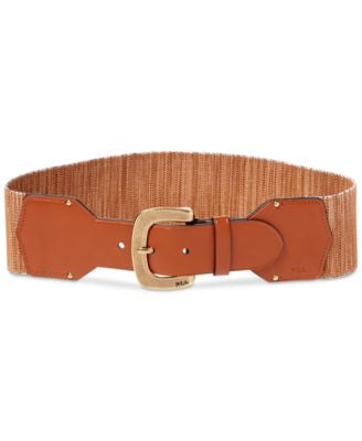 Lauren Ralph Lauren Faux-Leather Stretch Belt