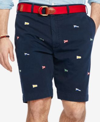 Polo Ralph Lauren Men's Big & Tall Embroidered Chino Shorts