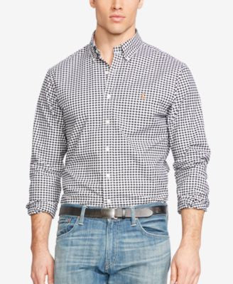 Polo Ralph Lauren Men's Big & Tall Gingham Stretch-Oxford Shirt