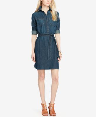 Lauren Ralph Lauren Long-Sleeve Denim Shirtdress