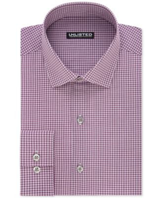 Unlisted by Kenneth Cole Men's Slim-Fit Checked Dress Shirt