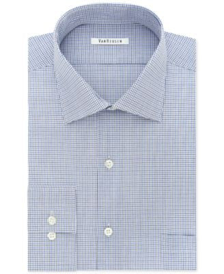 Van Heusen Men's Classic-Fit Flex-Collar Multi-Check Dress Shirt