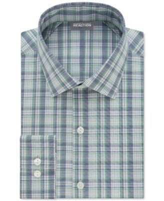 Kenneth Cole Reaction Men's Techni-Cole Slim-Fit Performance Multi-Plaid Dress Shirt