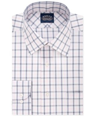 Eagle Non-Iron Slim-Fit Saphire Blue Check Dress Shirt