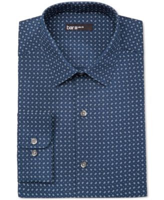 Bar III Men's Slim-Fit Pine-Print Dress Shirt, Only at Vogily