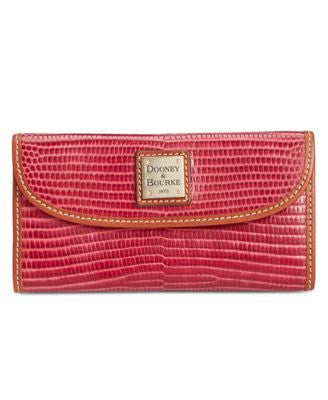 Dooney & Bourke Lizard-Embossed Continental Clutch Wallet