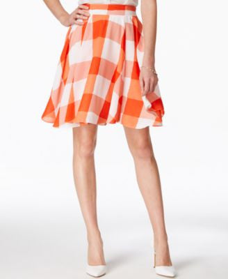 Maison Jules Gingham Flare Skirt, Only at Vogily