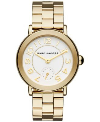 Marc Jacobs Women's Riley Gold-Tone Stainless Steel Bracelet Watch 36mm MJ3470