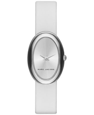 Marc Jacobs Women's Cicely White Leather Strap Watch 31mm MJ1453