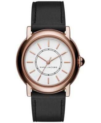 Marc Jacobs Women's Courtney Black Leather Strap Watch 34mm MJ1450