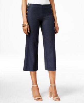 INC International Concepts Cropped Wide-Leg Pants, Only at Vogily