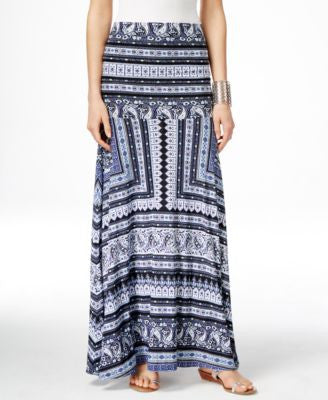 INC International Concepts Printed Convertible Maxi Skirt, Only at Vogily