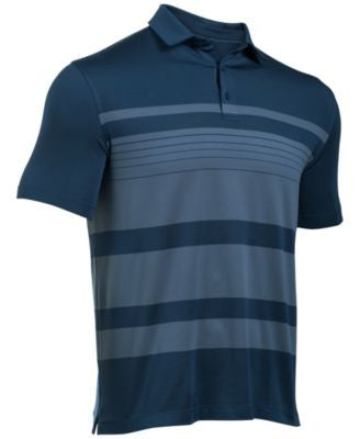 Under Armour Men's Coldblack Striped Golf Polo
