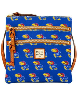Dooney & Bourke Kansas Jayhawks Triple Zip Crossbody Bag