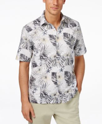Tasso Elba Men's Linen Tropical Short-Sleeve Shirt