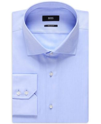 BOSS Regular/Classic-Fit Solid Dress Shirt