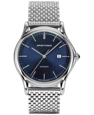 Emporio Armani Men's Swiss Automatic Classic Stainless Steel Bracelet Watch 42mm ARS3022