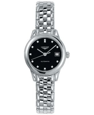 Longines Women's Swiss Automatic Flagship Diamond Accent Stainless Steel Bracelet Watch 26mm L427445