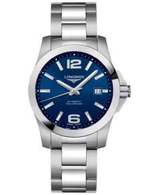 Longines Men's Swiss Automatic Conquest Stainless Steel Bracelet Watch 39mm L36764996
