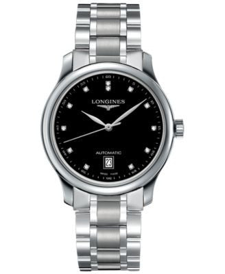 Longines Men's Swiss Automatic The Longines Master Collection Diamond Accent Stainless Steel Bracele
