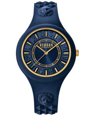 Versus by Versace Women's Fire Island Blue Silicone Strap Watch 39mm SOQ09 0016